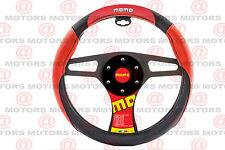 Protector Steering Wheel Cover Red Black Brand MOMO Corse Firm Grip Accesories