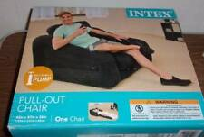 Intex Inflatable Pull Out Chair Twin Bed Air Mattress Black NEW