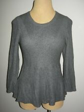 Lane Bryant Gray Chevron Front Peplum Sweater 26/28 Fits 26W 28W 3X 4X