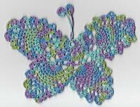 Handmade crochet Spring butterfly doily width bookmark applique coaster doily