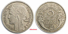 France Aluminum 1945 - C 2 Francs Key Date Toned 27mm KM# 886a.3