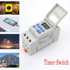 12-220V Time Switch Weekly DIN Rail Mounting Digital Programmable Timer THC15A