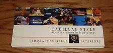 Original 1989 Cadillac Eldorado & Seville Exterior Color Selections Brochure 89