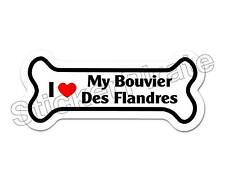 I Love My Bouvier Des Flandres Dog Bone Bumper Sticker Decal Db 162
