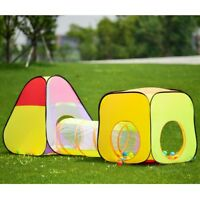 Folding Pop Up Kids Children Tent Tunnel with 200 Ocean Balls Play Toy Carry Bag