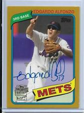 2015 TOPPS ARCHIVES GOLD EDGARDO ALFONZO AUTOGRAPH #D50/50 1/1 NEW YORK METS