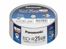 30 Panasonic Bluray Disc 25 GB Made in Japan BluRay Disc BD-R Inkjet Printable