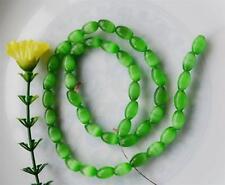 8x12mm Mexican Green Peridot Opal Gemstone Rice Loose Beads##AY112