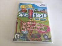 Six Flags Fun Park (Nintendo Wii, 2009) Wii NEW!