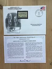 DANBURY MINT WORLD WAR 2 WW2 US USA 1991 FDC JAPAN COMPROMISE TOJO ROOSEVELT