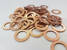 COPPER WASHERS M6 to M16 Variety of O.D and Thickness Sealing Washers