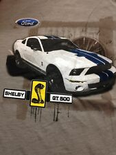BRAND NEW FORD MUSTANG SHELBY GT 500 GREY SHORT SLEEVE T SHIRT SIZE M OR L