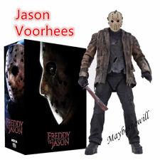 """NECA Horror Freddy VS Jason Action Figure 7"""" Jason killer Play toy Deluxe Gift"""