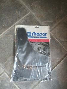 DODGE CHRYSLER Black Flat Front Rear Splash Mud Guards NEW OEM MOPAR 82203876