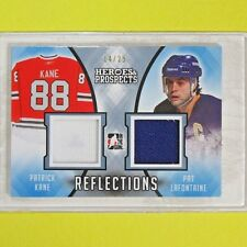"""Patrick Kane / Pat LaFontaine """" HEROES & PROSPECTS MEMO. 14/25""""  ITG #R10"""