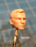 """MH133 Custom Cast Male head for use with 3.75"""" GI Joe Star Wars Marvel figures"""
