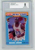 1990 Fleer All-Stars Michael Jordan #5 NM-MT Graded BGS 8 Basketball Bulls