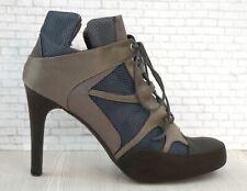 STELLA MCCARTNEY 36.5 Gray Blue Satin Mesh High Heel Sneaker Pumps 6