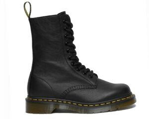 Sale Dr Martens 1490 Virginia Leather 22524001 10 Eye Boots Black RRP £160