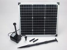 30W Solar Bachlaufpumpe 1300 l/h Solarpumpe Wasserfall Teich Pumpe Gartenteich