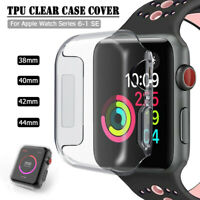 38/42/40/44mm Soft TPU Clear iWatch Case Cover for Apple Watch Series 6 5 4 3 SE
