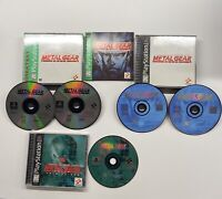Playstation 1 Metal Gear Solid Black Label, Greatest Hits & VR Missions PS1 Lot