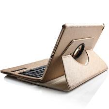 360° Ipad Mini 3 2 1 leder Case Schutz Hülle Cover mit Bluetooth Tastatur Gold