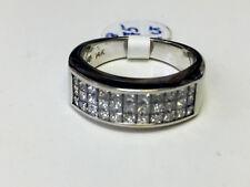 1ct Diamond Band in 14k white gold, princess cuts ...ret$2999