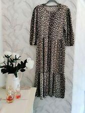 Zara Animal Print Midi dress Size M