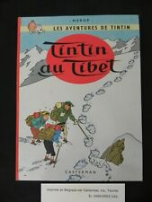 ancien album tintin hergé tintin au tibet 1966 bord rouge, casterman 3