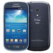 Samsung Galaxy S3 Mini SM-G730V - 8GB Pebble Blue (Verizon) Smartphone Great