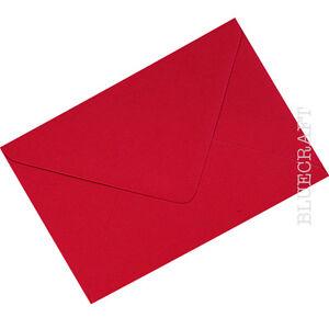 C6 Xmas Card Red Premium Quality Envelopes - 114 x 162mm - 6 x 4 inches