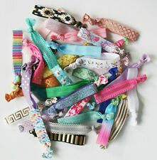 10pcs Hair Ties Printed Elastic Bands Assorted Colours Soft Bracelets Mixed Sets