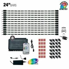 """LED MULTICOLOR RGB TV Home Cabinet Accent Lighting Kit 12 x 24"""" Bars Commercial"""