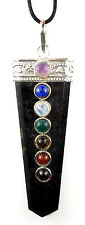 PENDANT - TOURMALINE CHAKRA Crystal Wand with Description - Healing Reiki Stone