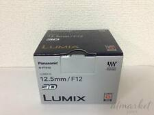 Panasonic Lumix Objektiv 3d 12.5mm f12 Single-Focus Micro FourThirds gh-ft012 Japan