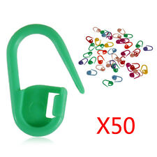50pcs/set Knitting Weave Crochet Locking Stitch Markers Holder Needle Clip Craft