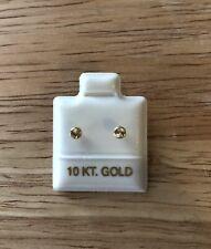 10k Solid Gold earring, Screw Back Earring. 3 Mm