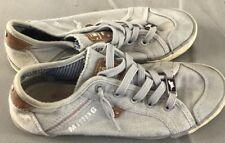 Basket baskets sneakers mustang grise t 35 tissu SAC G