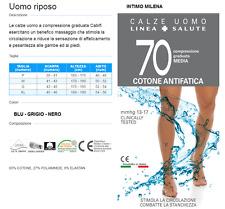 CALZE LUNGHE UOMO CABIFI MANON RIPOSANTE COTONE 70  ANTIFATICA COMPRESSIONE