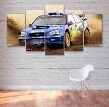 Subaru Impreza WRX Rally Car 5 Panel Canvas, 5 Piece Wall Art, Multi Panel #052