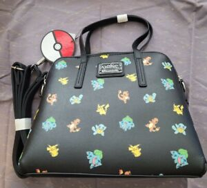 Loungefly Pokemon Starter Black Crossbody Bag Purse Rare NEW with tags NWT