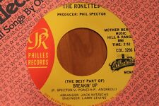 THE RONETTES -COL 3206 - MINT- - BABY, I LOVE YOU/BREAKIN' UP - ROCK 45