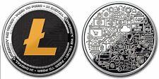 Litecoin Colorized Silver Round Coin Crypto Icon 1 oz Bitcoin Anonymous Mint COA
