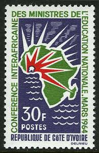Ivoire Coast 212, Mi 265, MNH Conférence De Natl. Éducation Ministres, 1964
