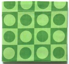 Vintage TEXMADE Truprest FULL FLAT Bedsheet 'Concord' Green Circles Squares