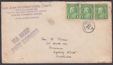 USA San Juan International Camps to Australia;Camp Pony Express; Postage Due