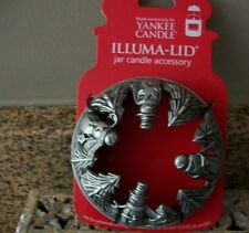 Yankee Candle Illuma Lid Jar Candle Topper (SNOWMEN WITH TREES)