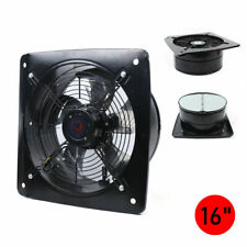 750w 16 Industrial Ventilation Extractor Metal Axial Exhaust Air Blower Fan Us