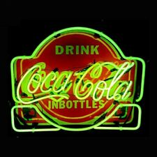 "New Drink Coca Cola in Bottles Neon Light Sign 24""x20"" Lamp Poster Real Glass"